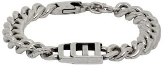 DSQUARED2 Silver Chunky Logo Bracelet