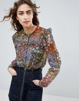 Needle & Thread Needle and Thread Flowerbed Blouse