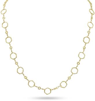 Dominique Cohen 18k Gold Hexagonal Chain Necklace