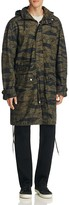 Diesel J-Tiger Camo Print Hooded Coat