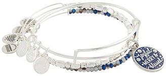Alex and Ani Joyful, Merry Blessed Set of 3 Bangle Bracelet (Blue) Bracelet