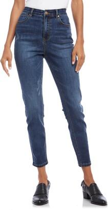 Karen Kane Distressed High Waist Skinny Jeans