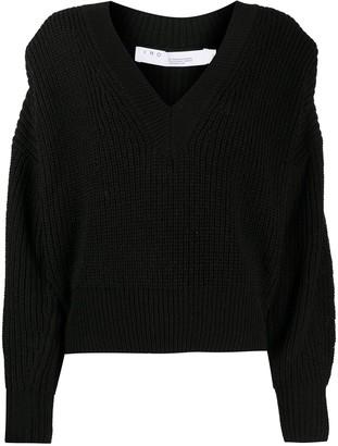 IRO Shoulder-Padded Knitted Jumper