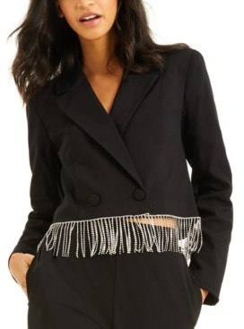 INC International Concepts Culpos X Inc Crystal-Fringe Blazer, Created for Macy's