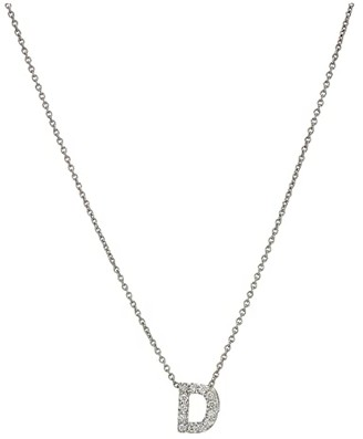 Roberto Coin Diamond Initial Necklace (White Gold-D) Necklace