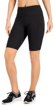 Ideology High-Rise Pocket Bike Shorts, Created for Macy's