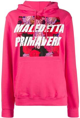 Gina floral graphic-print hoodie