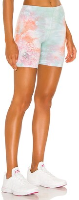 DANZY X When We All Vote Sorbet Tie Dye Biker Shorts