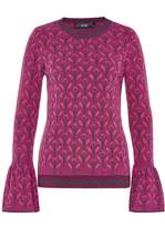 Hallhuber Jacquard Jumper With Lurex