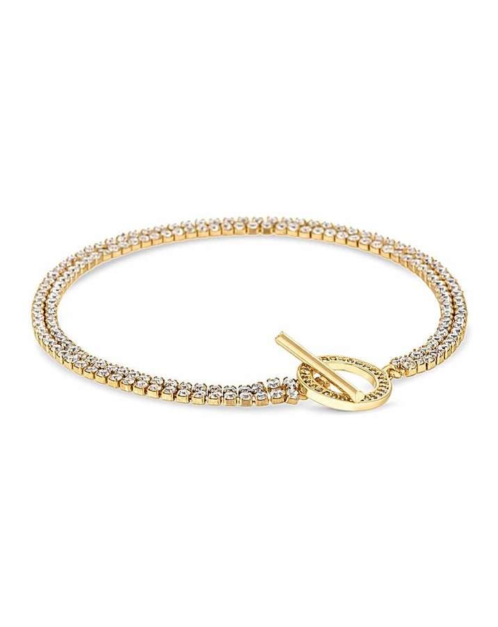 Jon Richard T Bar Diamante Bracelet