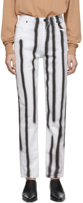 Eckhaus Latta White Spray Baggy Jeans