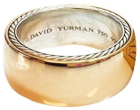 David Yurman 18K Yellow Gold Streamline Ring Size 5.25