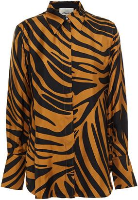 3.1 Phillip Lim Zebra-print Silk-twill Shirt