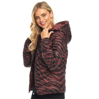 Only Womens Demi Hooded All Over Print Jacket Merlot