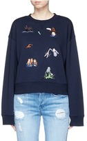 Ground Zero Movie character embroidered sweatshirt