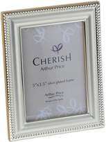 Arthur Price Silver plated Bead photograph frame 3.5x5