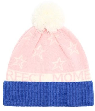 Perfect Moment Star-intarsia Wool-blend Beanie - Pink Multi