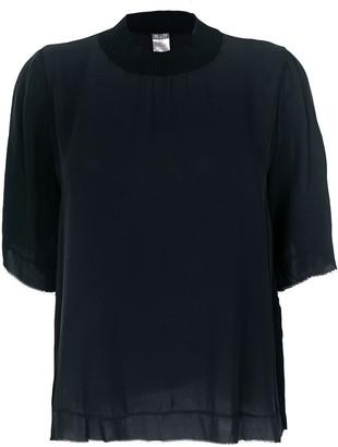 Kristensen Du Nord cashmere trim T-shirt