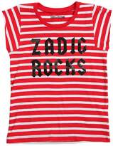 Zadig & Voltaire Striped Rocks Cotton Jersey T-Shirt