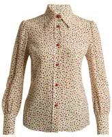 Miu Miu Peony-print silk crepe de Chine blouse