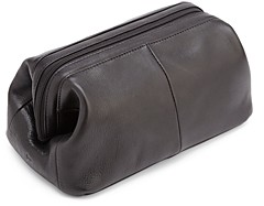 ROYCE New York Classic Leather Toiletry Bag