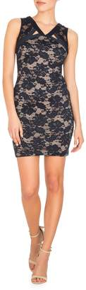 GUESS Floral Lace Bodycon Dress