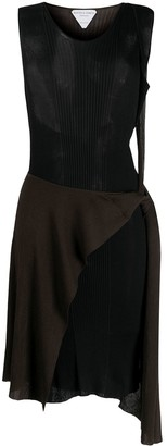 Bottega Veneta Bicolour Sheer Rib-Knit Dress