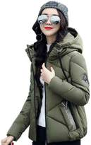 Harmily Winter Women Down Jacket Slim Cotton Padded Tops Zipper Coat Outwear