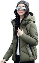 KOROWA Winter Women Down Jacket Slim Cotton Padded Tops Zipper Coat Outwear