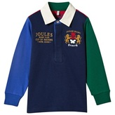 Joules Colour Block Rugby Top with Embroidered Crest and Logo