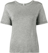 Lot 78 Lot78 - Cashmere Blend Side Split Tee - women - Nylon/Micromodal/Cashmere - XS