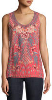 Johnny Was Katrina Embroidered Linen Tank