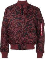 Alpha Industries printed flight jacket - men - Nylon/Polyester - S