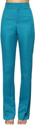 Balenciaga High Waisted Straight Leg Twill Pants