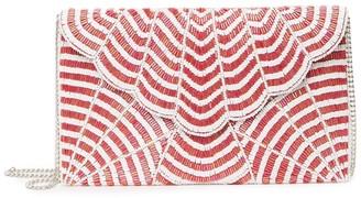 Ricki Designs Scallop Beaded Clutch Crossbody Bag