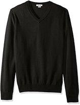 Phenix Cashmere Men's 100% V-Neck Sweater with Reverse Seam Detail