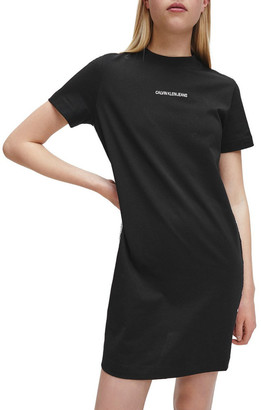 Calvin Klein Jeans T-Shirt Dress With Mesh Tape