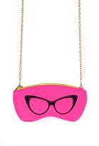 Cat Eye Chain Pouch in Neon Pink