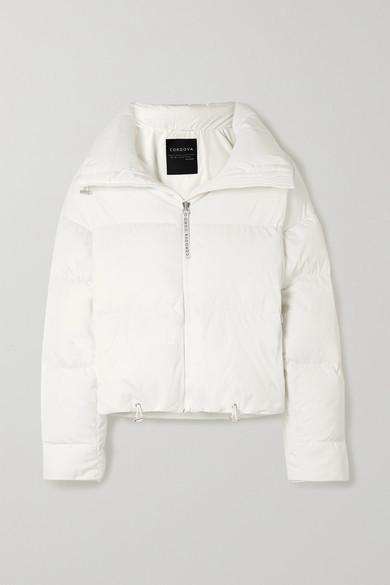 Cordova Mont Blanc Quilted Down Ski Jacket - White
