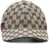 Gucci 'Original GG' baseball cap with web - men - Cotton/Polyamide/Polyester - L