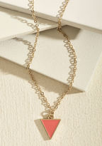 ModCloth Worth a Tri Necklace in Punch