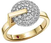 Roberto Coin 18K White & Yellow Gold Diamond Disk Ring