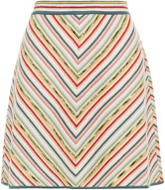 Missoni Crochet-knit Wool-blend Mini Skirt