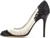 Oscar de la Renta Macramé Leather Bridgitte Pumps