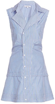 Derek Lam 10 Crosby Satina Striped Shirt Dress
