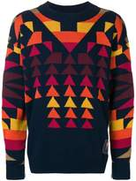 Sacai geometric pattern jumper