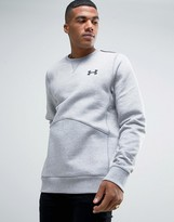 Under Armour Varsity Crew Sweat In Gray 1285085-025