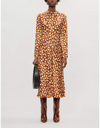 Ghost Ayla floral-print crepe midi dress