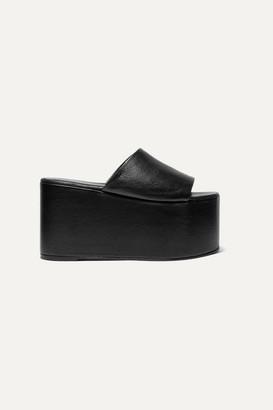 Simon Miller Blackout Textured-leather Platform Sandals