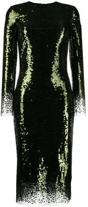 Ermanno Scervino Sequin Midi Dress